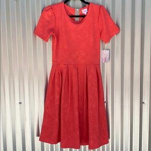 NWT Lularoe Coral Amelia Day Dress Small